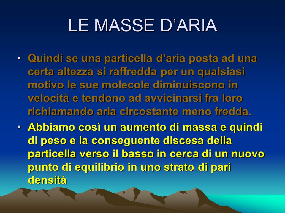 LE MASSE D'ARIA