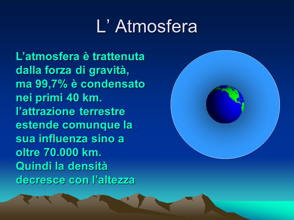 L' Atmosfera