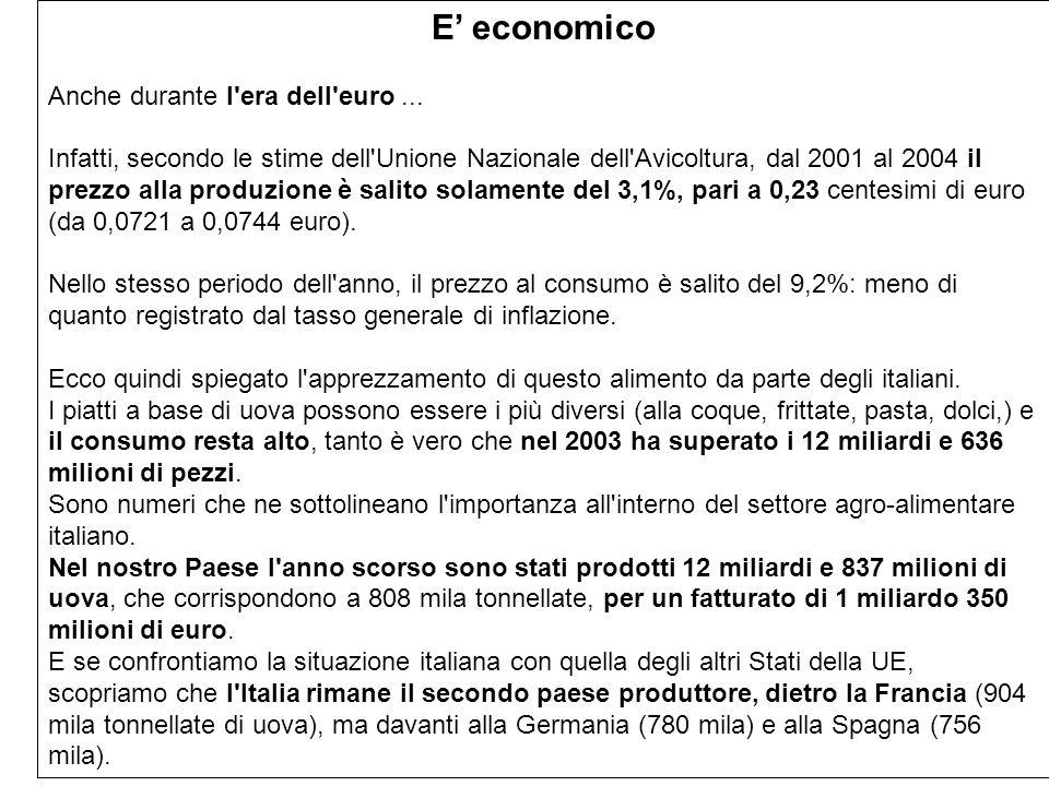 E' economico Anche durante l era dell euro ...