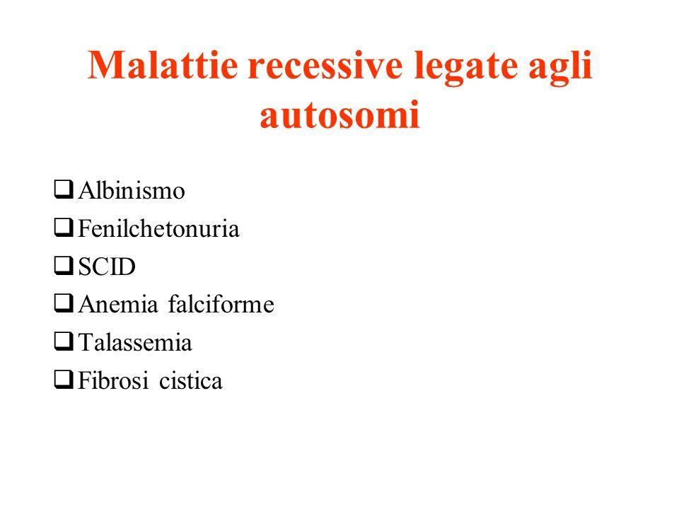 Malattie recessive legate agli autosomi
