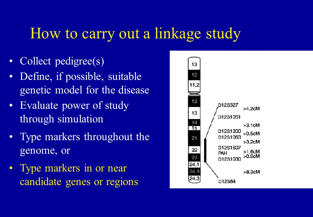 How to carry out a linkage study