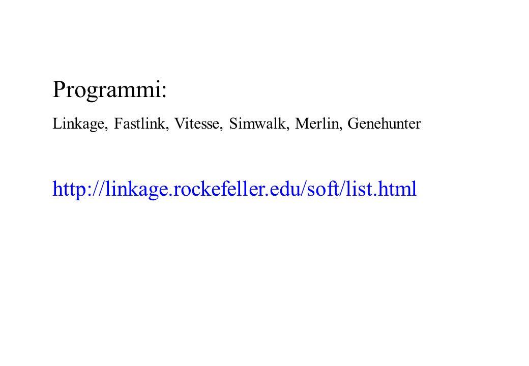 Programmi: http://linkage.rockefeller.edu/soft/list.html
