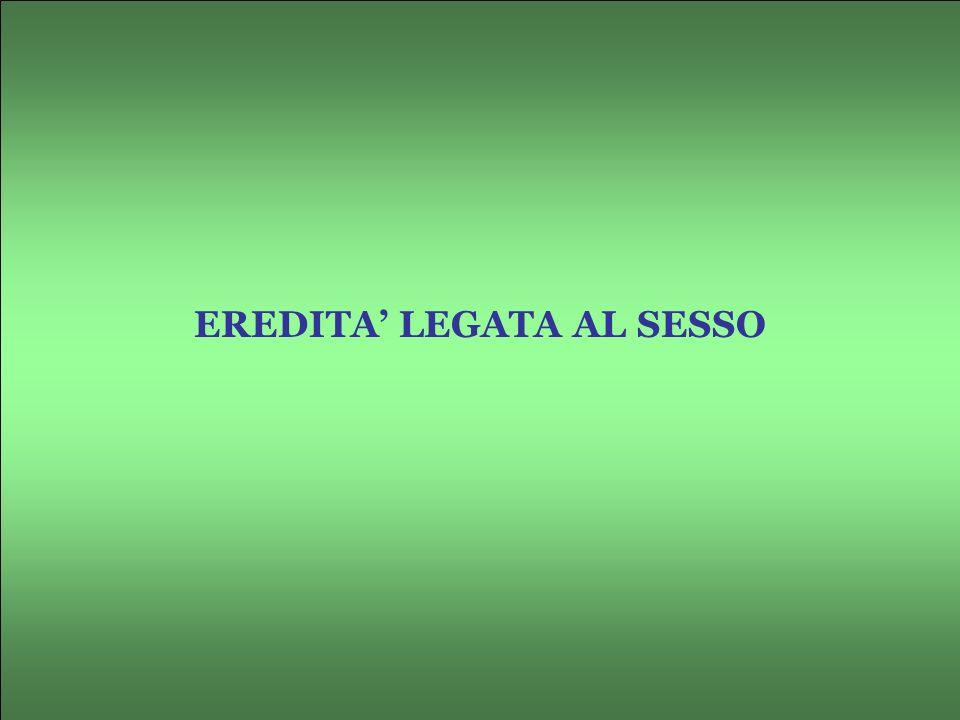 EREDITA' LEGATA AL SESSO