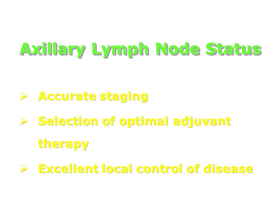 Axillary Lymph Node Status