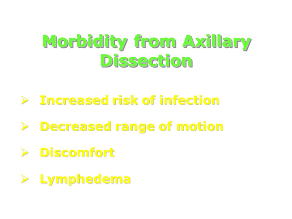 Morbidity from Axillary Dissection