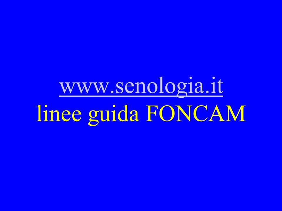 www.senologia.it linee guida FONCAM