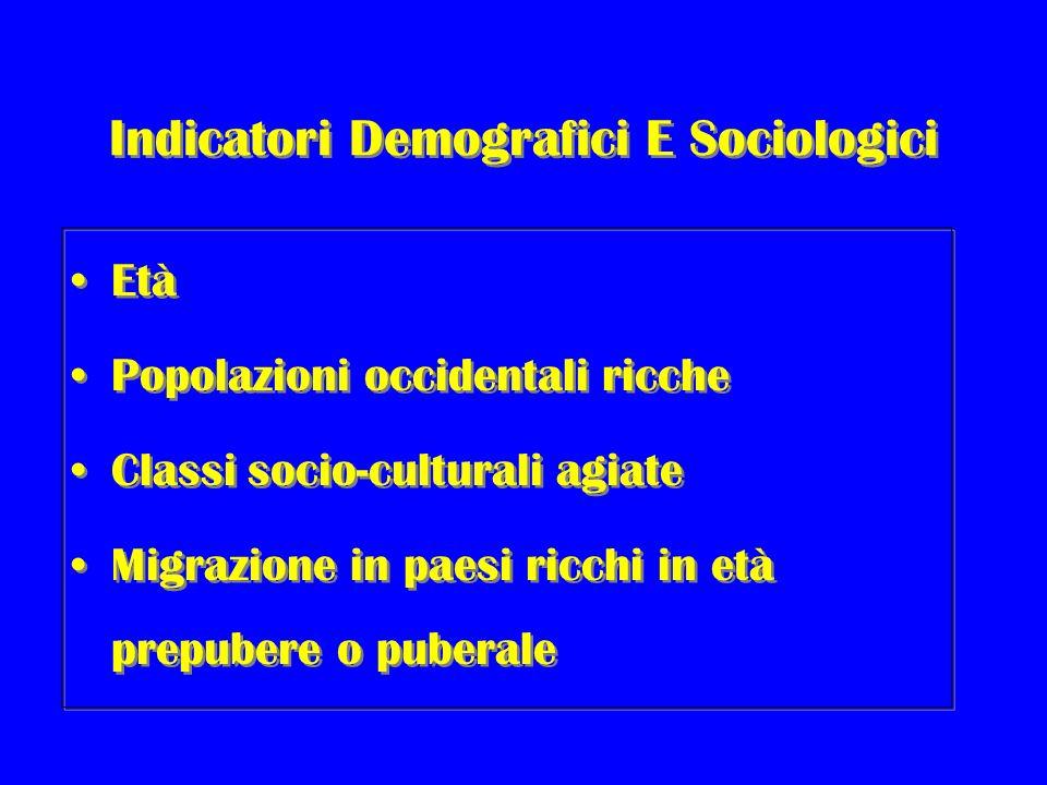 Indicatori Demografici E Sociologici