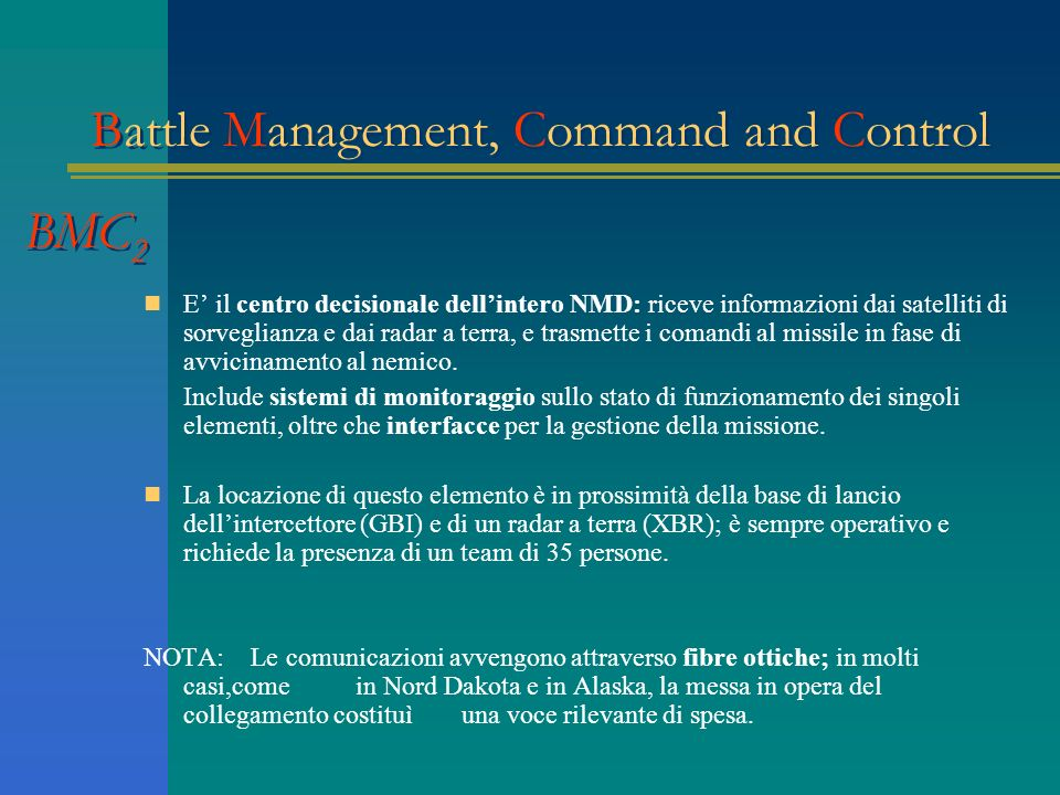 Battle Management, Command and Control BMC2