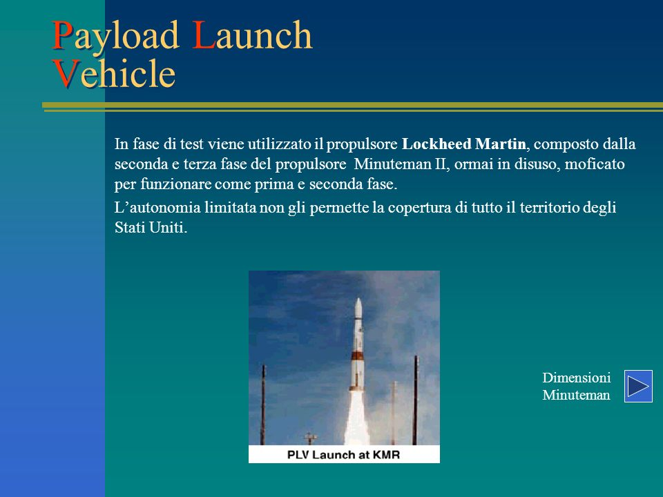 Payload Launch Vehicle