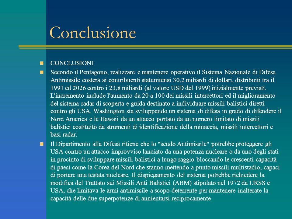 Conclusione CONCLUSIONI