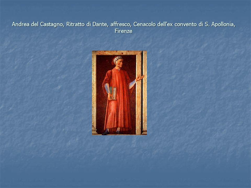 Andrea del Castagno, Ritratto di Dante, affresco, Cenacolo dell ex convento di S. Apollonia, Firenze