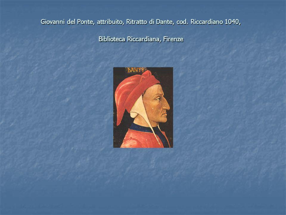Giovanni del Ponte, attribuito, Ritratto di Dante, cod