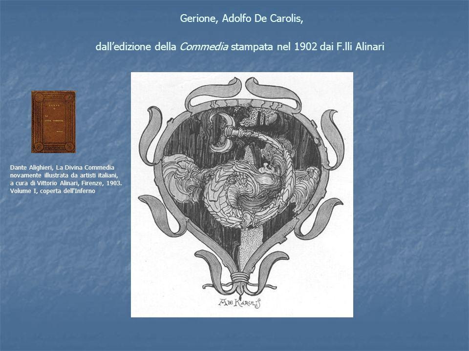 Gerione, Adolfo De Carolis, dall'edizione della Commedia stampata nel 1902 dai F.lli Alinari