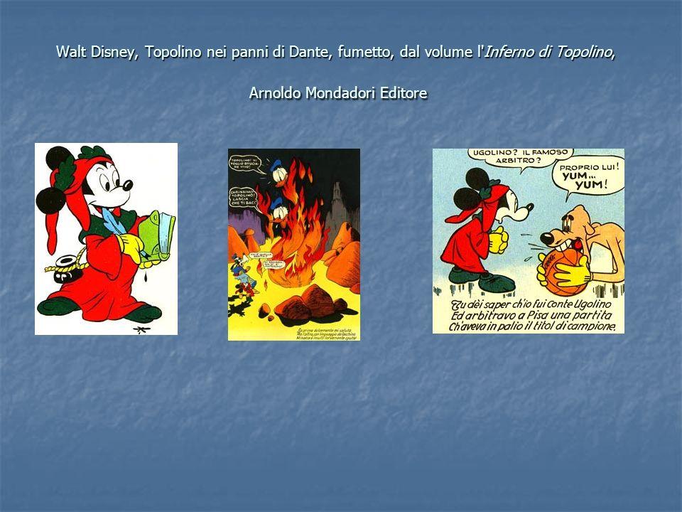 Walt Disney, Topolino nei panni di Dante, fumetto, dal volume l Inferno di Topolino, Arnoldo Mondadori Editore