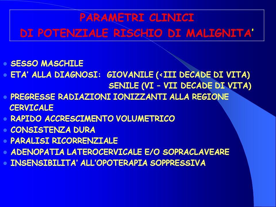 DI POTENZIALE RISCHIO DI MALIGNITA'