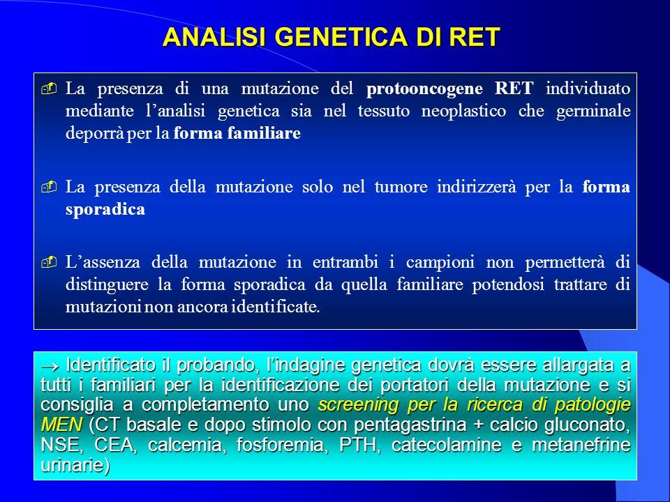 ANALISI GENETICA DI RET