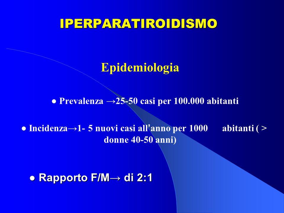 ● Prevalenza →25-50 casi per 100.000 abitanti