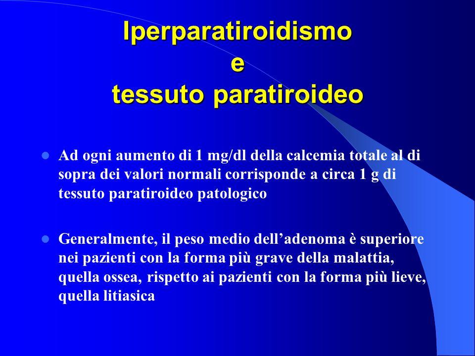 Iperparatiroidismo e tessuto paratiroideo