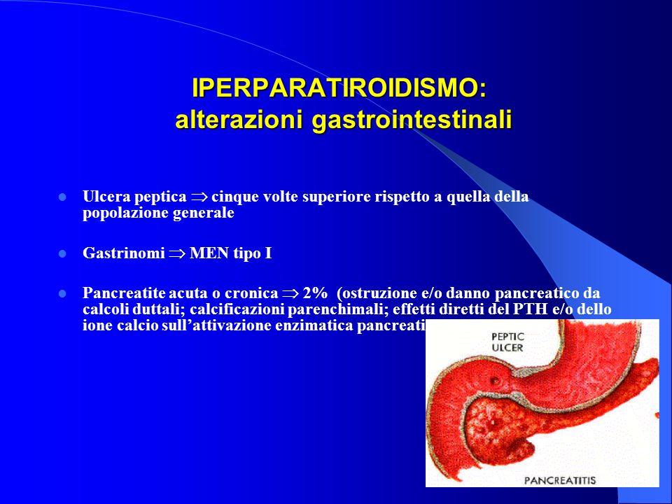 IPERPARATIROIDISMO: alterazioni gastrointestinali