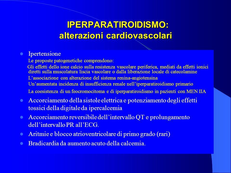 IPERPARATIROIDISMO: alterazioni cardiovascolari
