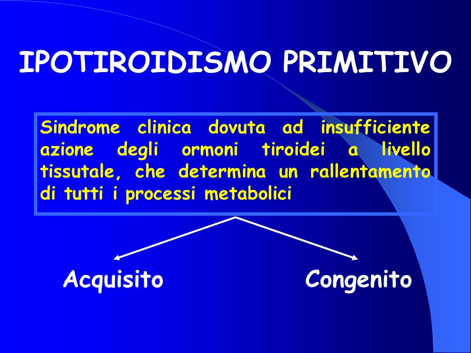 IPOTIROIDISMO PRIMITIVO