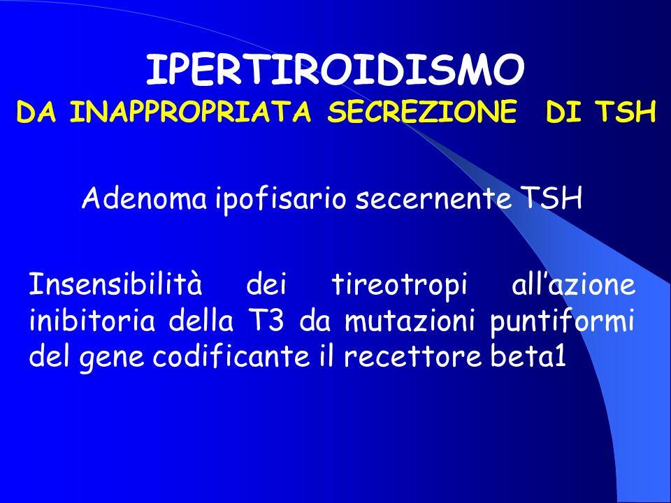 IPERTIROIDISMO DA INAPPROPRIATA SECREZIONE DI TSH
