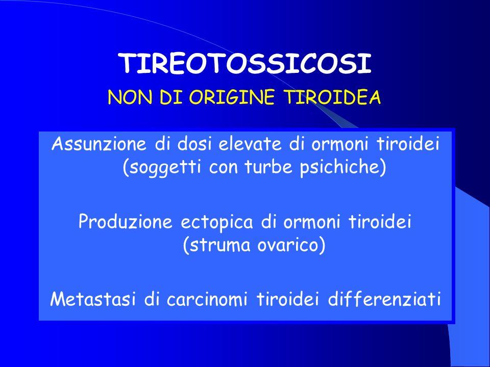 TIREOTOSSICOSI NON DI ORIGINE TIROIDEA