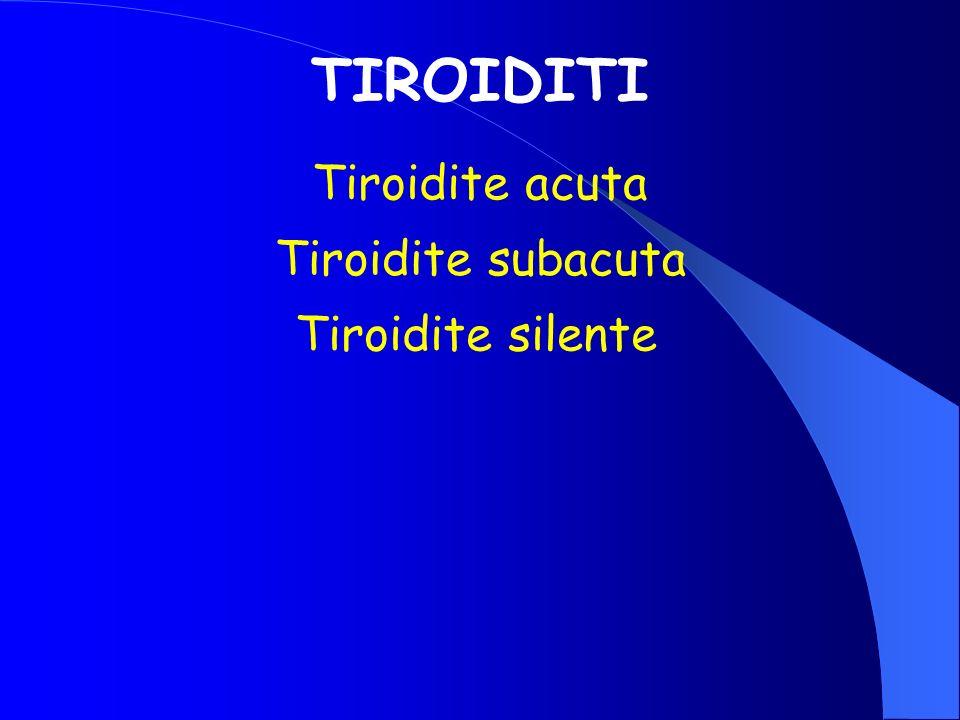 TIROIDITI Tiroidite acuta Tiroidite subacuta Tiroidite silente