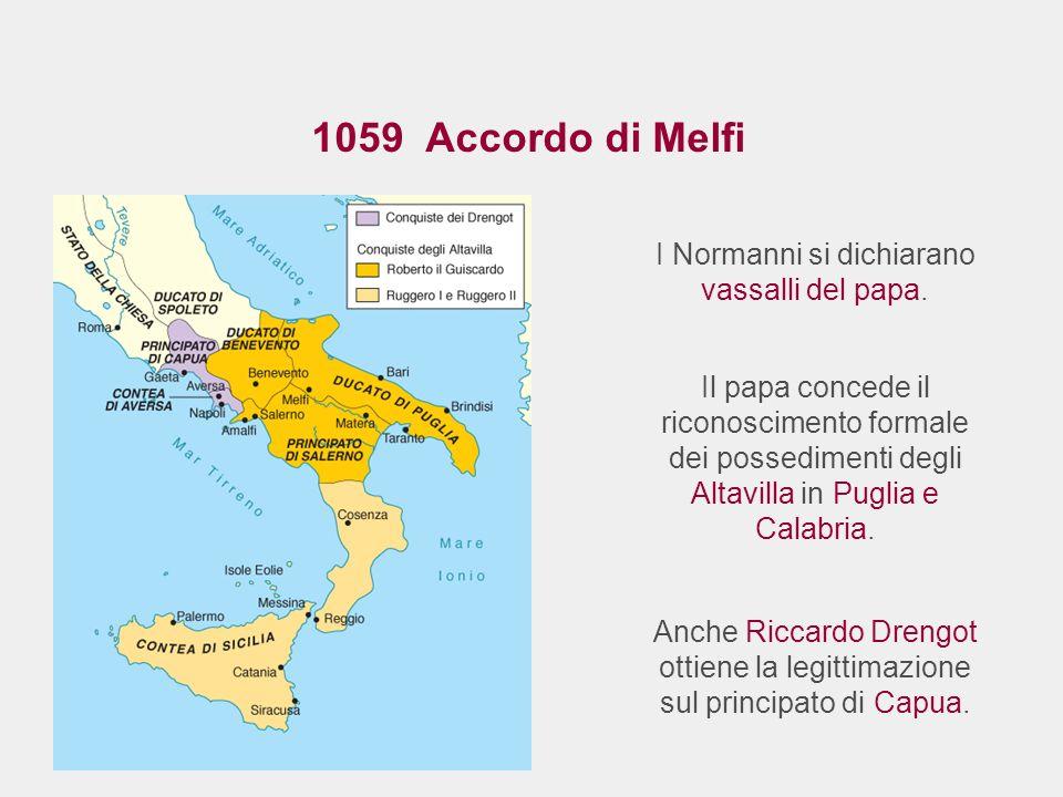 I Normanni si dichiarano vassalli del papa.