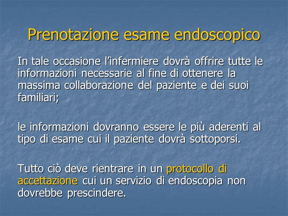 Prenotazione esame endoscopico