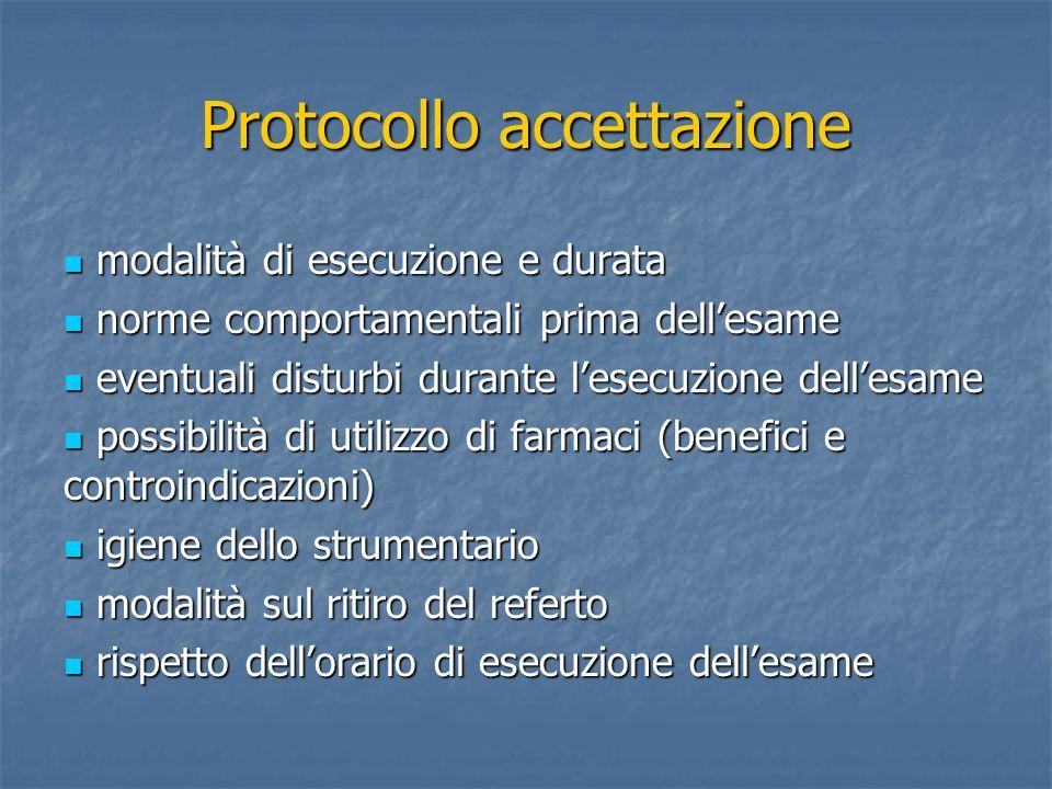 Protocollo accettazione