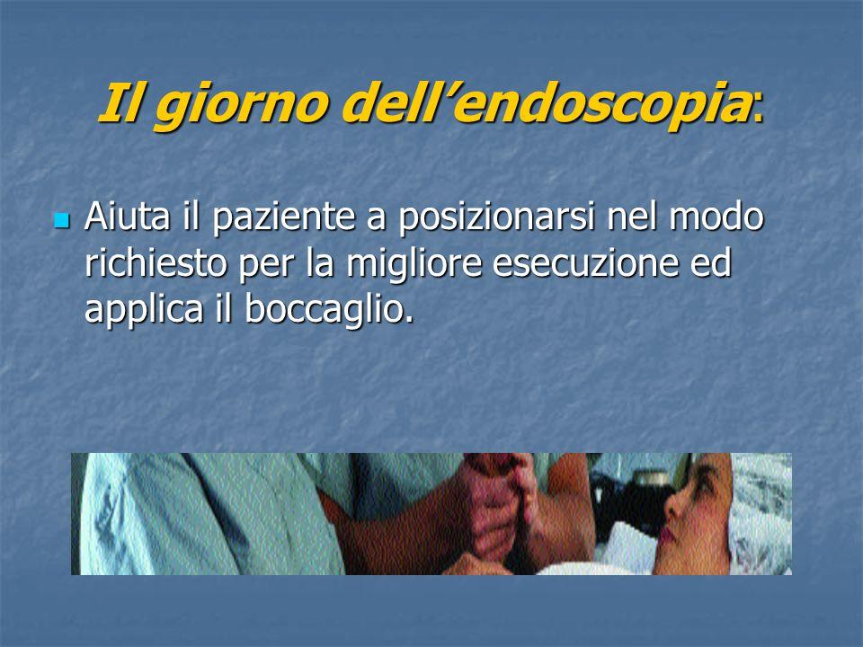 Il giorno dell'endoscopia: