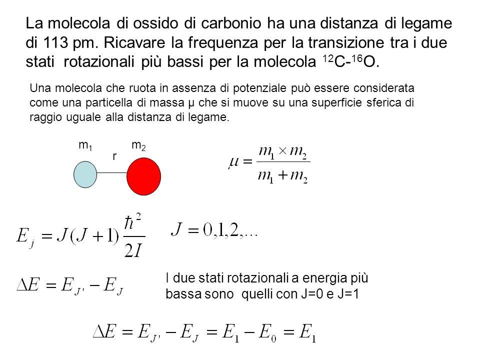 La molecola di ossido di carbonio ha una distanza di legame di 113 pm