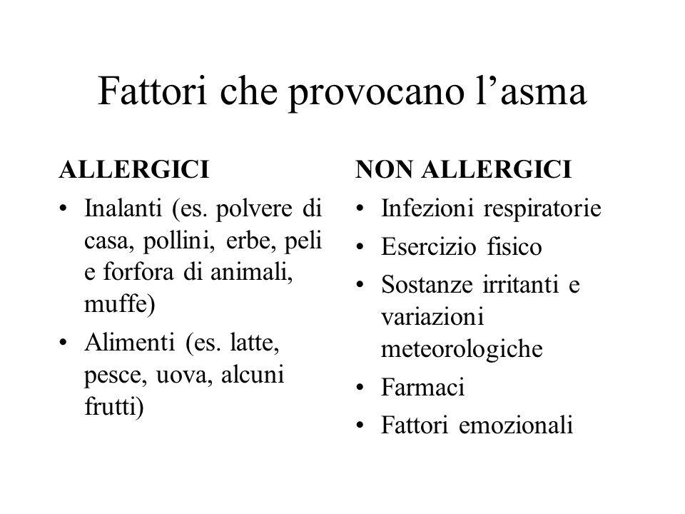 Fattori che provocano l'asma