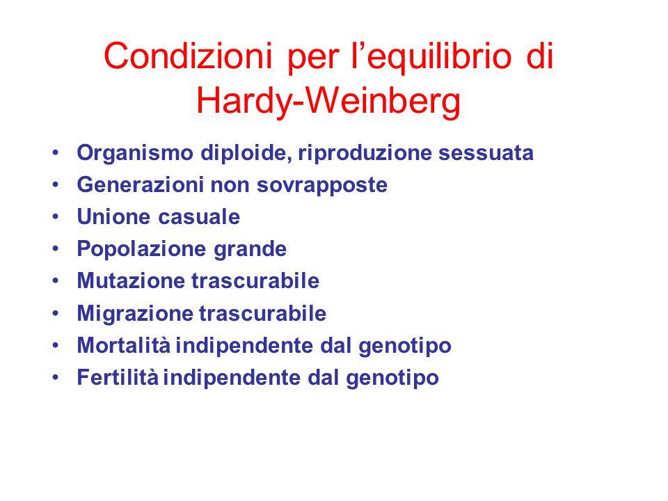 Condizioni per l'equilibrio di Hardy-Weinberg