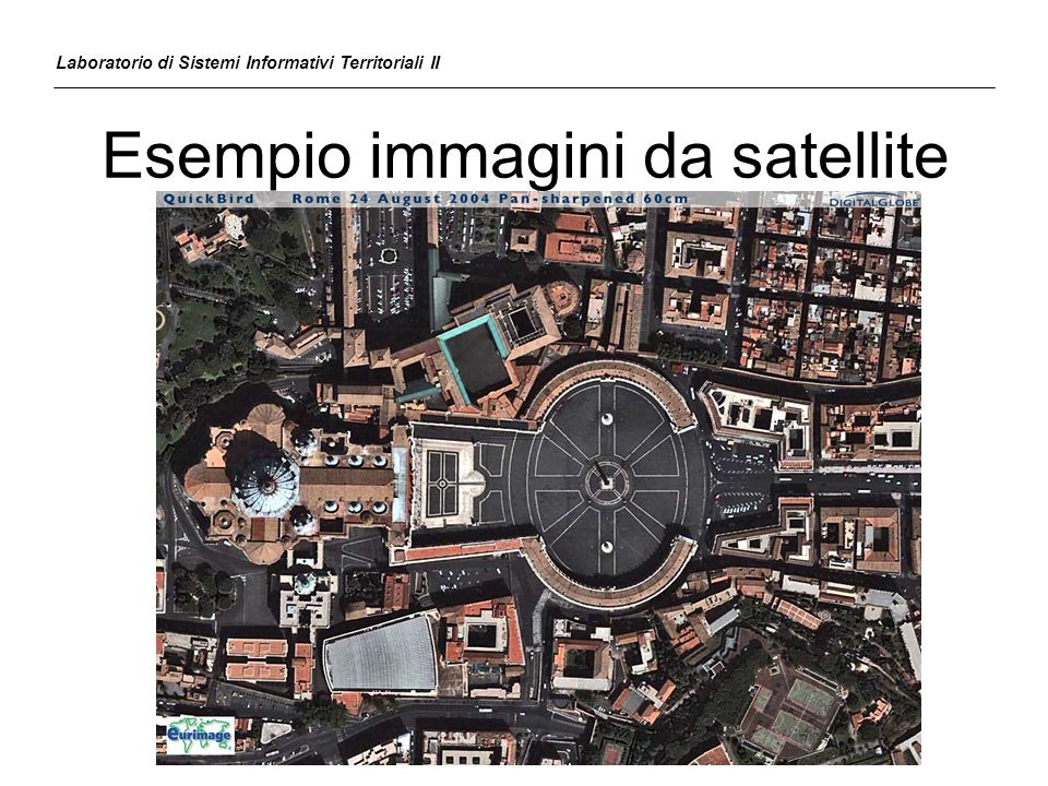 Esempio immagini da satellite