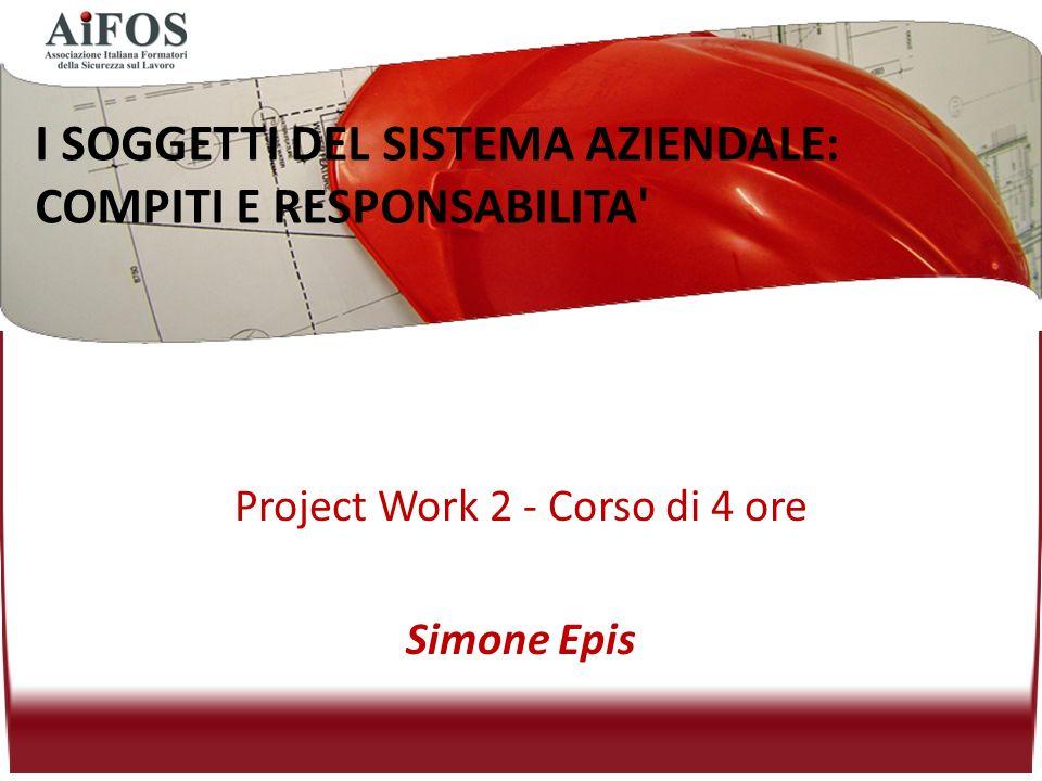 Project Work 2 - Corso di 4 ore Simone Epis