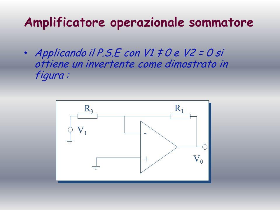 Amplificatore operazionale sommatore