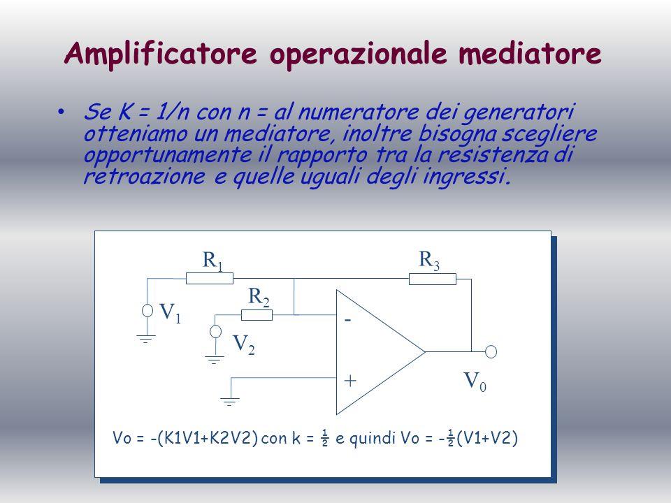 Amplificatore operazionale mediatore