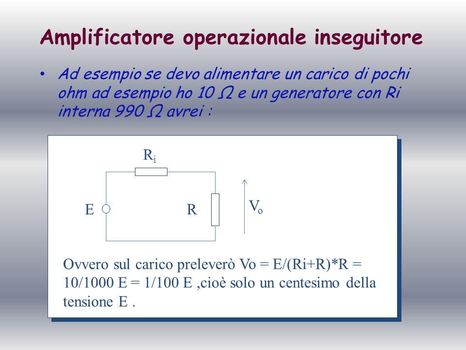 Amplificatore operazionale inseguitore