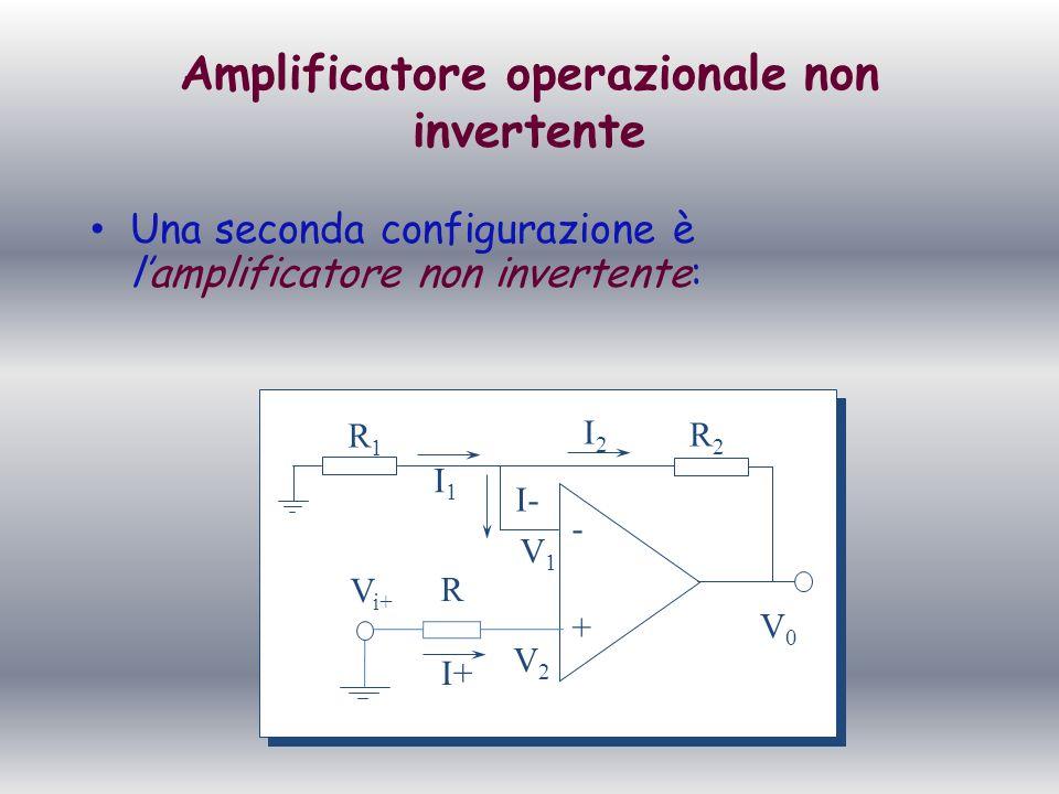 Amplificatore operazionale non invertente