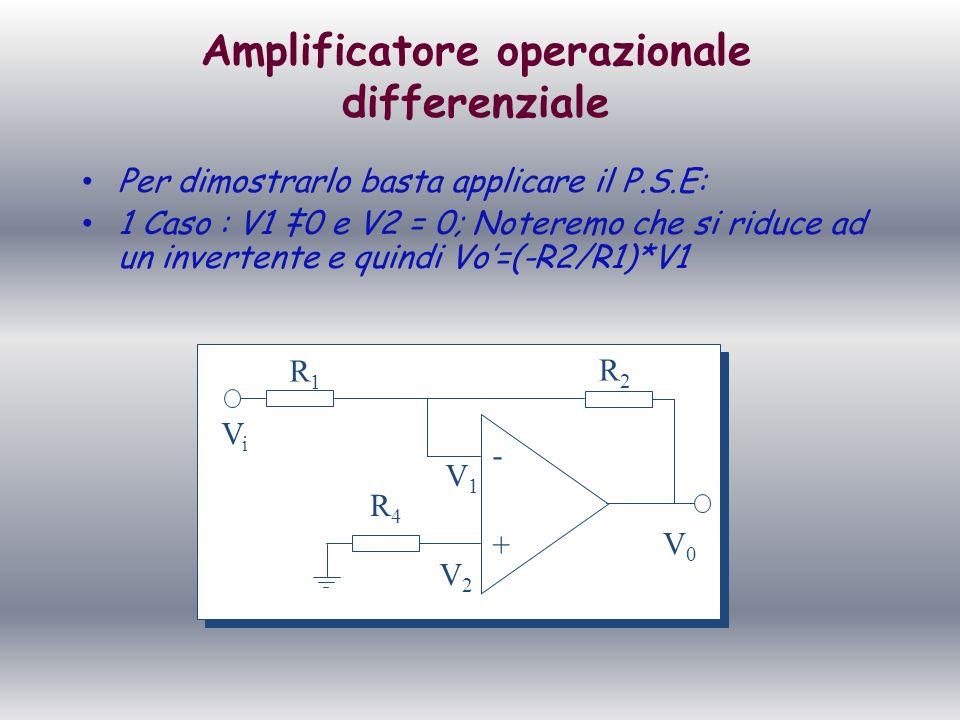 Amplificatore operazionale differenziale