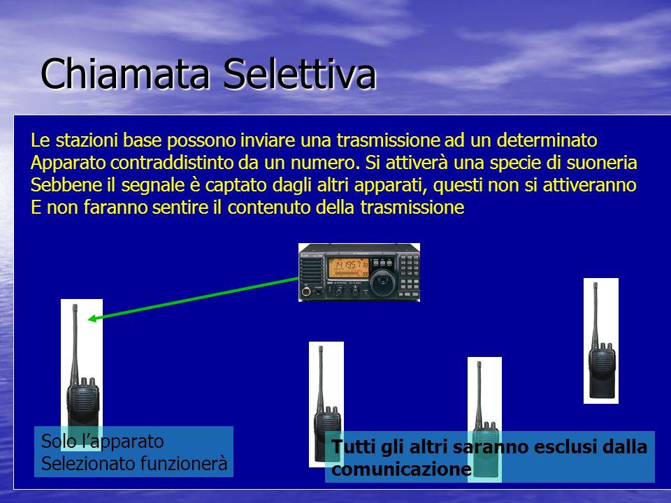 Chiamata Selettiva Le stazioni base possono inviare una trasmissione ad un determinato.