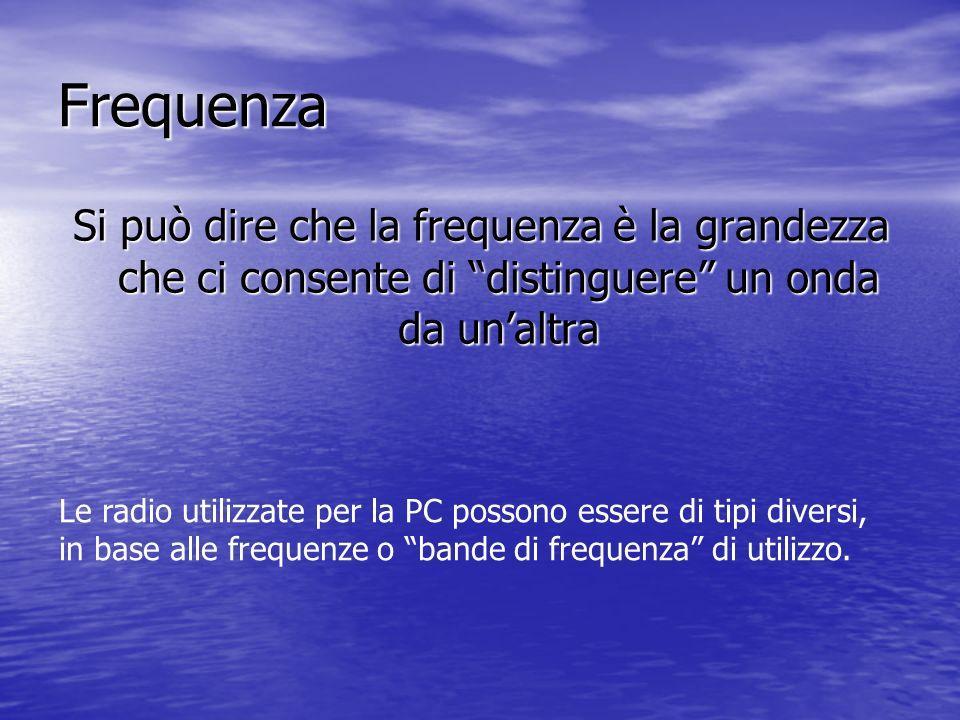 Frequenza Si può dire che la frequenza è la grandezza che ci consente di distinguere un onda da un'altra.
