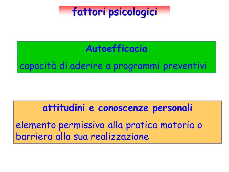 attitudini e conoscenze personali