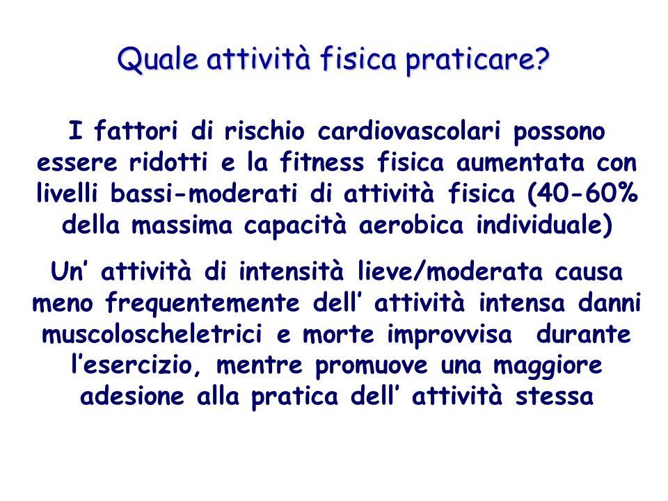 Quale attività fisica praticare