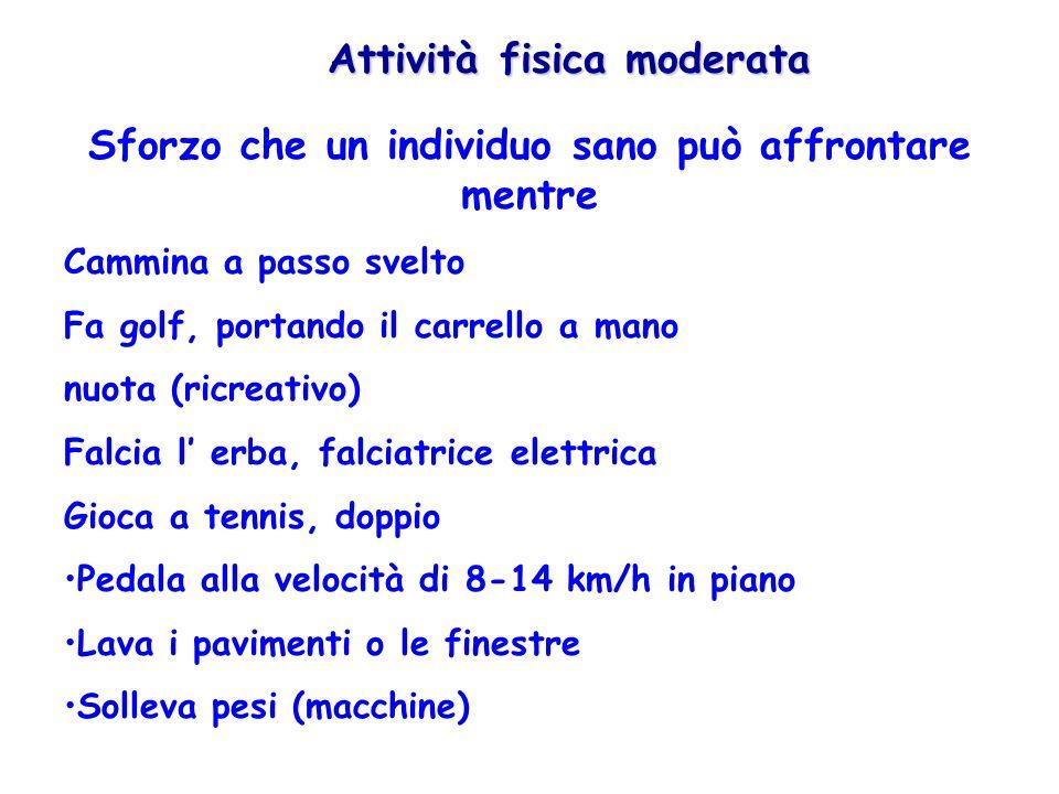 Attività fisica moderata