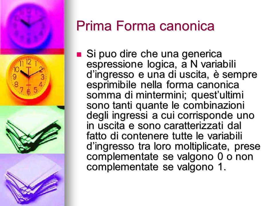 Prima Forma canonica