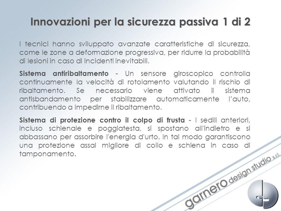 Innovazioni per la sicurezza passiva 1 di 2