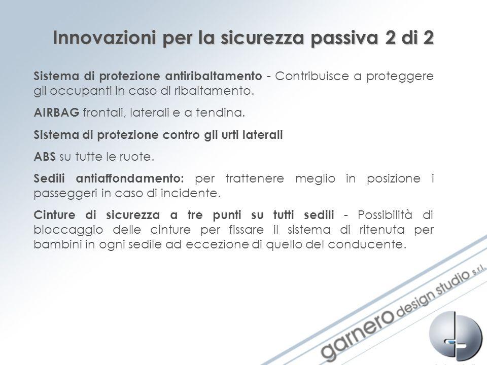 Innovazioni per la sicurezza passiva 2 di 2